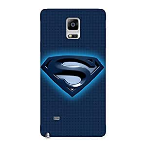 Stylish Premier Blue Day Multicolor Back Case Cover for Galaxy Note 4