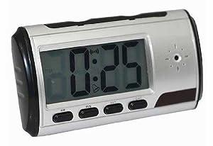 Vanstore-Horloge Réveil Digital CCTV Caméra Espion de Securité Avec Télécommande