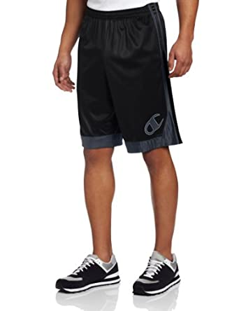 Champion Men's Sentinel Baketball Short, Black/Slate Grey/Black, Small