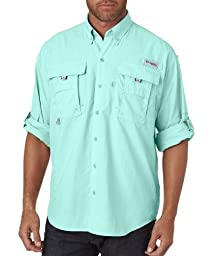 Columbia Men\'s Bahama II Long Sleeve Shirt, Gulf Stream, 3XL
