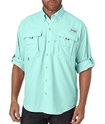 Columbia Men\'s Bahama II Long Sleeve Shirt, Gulf Stream, 3XL