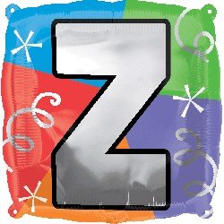 "Anagram International Letter Z Quad Package Balloon, 18"", NA"