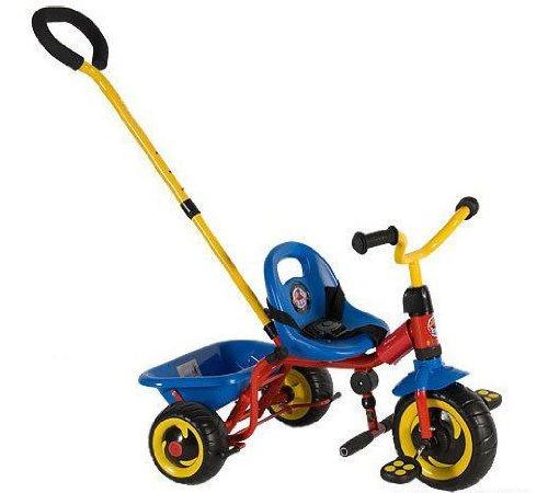 Qualitäts Dreirad für Kinder ab 18 m. Kinderdreirad Roller mit Schiebestange (360)
