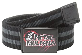 Metal Mulisha Men's Saber Web Belt, Black, One Size