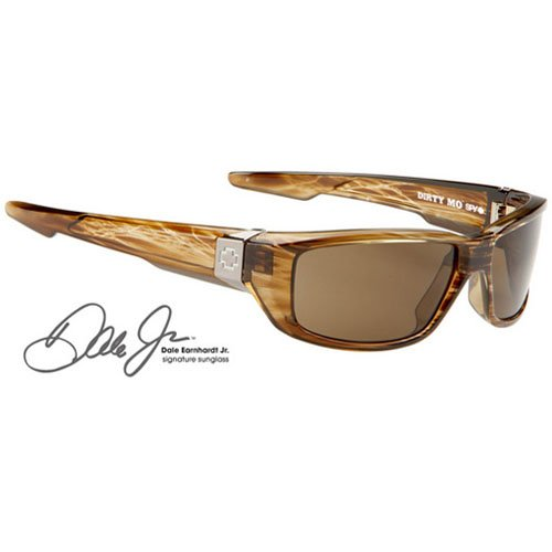Spy Dirty Mo Sunglasses - Spy Optic Steady Series Sports Eyewear - Color: Brown Stripe Tortoise/Bronze, Size: One Size Fits All
