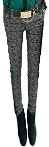 Womens Embroidery Semicircular Edge Pants