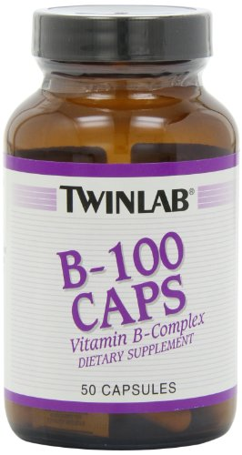 Twin Lab B-100 Capsules, 50-Count
