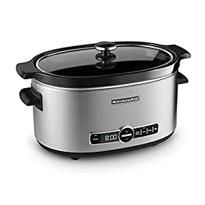 KitchenAid KSC6223SS 6-Quart Slow Cooker, Stainless Steel