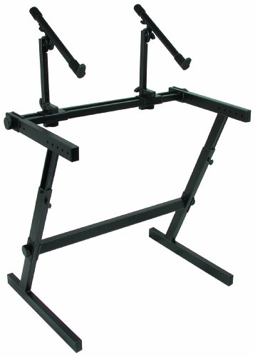 Quik Lok Z/726 Double Tier Height Adjustable Z-Style Keyboard Stand