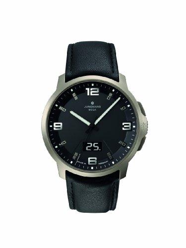 Junghans - 030/2900.00 - Montre Homme - Analogique - Bracelet cuir noir