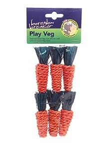 Rosewood Boredom Breaker Small Animal Activity Toy Mini Sisal Carrots, Pack of 6