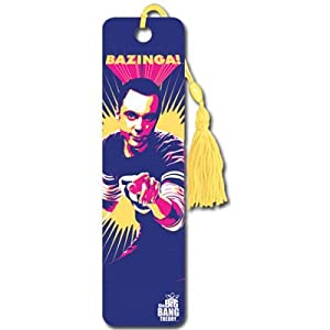 (2x6) Big Bang Theory Sheldon Bazinga TV Collector's Beaded Bookmark