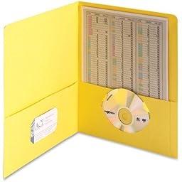 Two Pocket Portfolios, Yellow, 25 per Box (SMD87862)