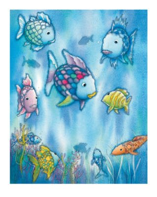 Alexander Hamawi The Rainbow Fish III Art Print Poster - 10x12