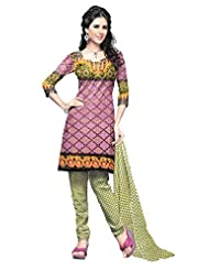 Lattice Women Pure Cotton Printed Dress Material - B00R8FNKIY