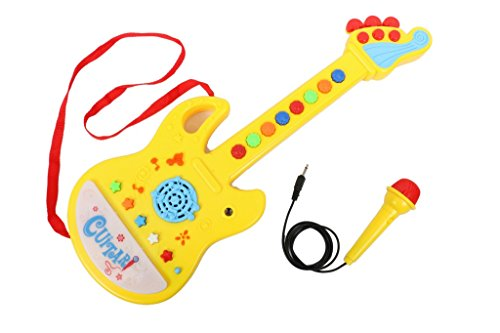 Tickles Musical Guitar With Microphone, 45cm (Color May Vary)