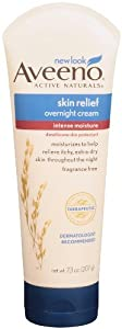 Aveeno Active Naturals Skin Relief Overnight Cream, Fragrance Free, 7.3 Ounce