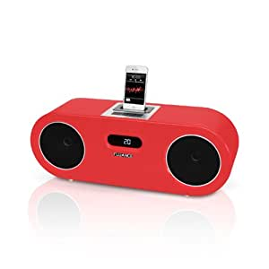 Fluance FiSDK500 Two-way High Performance Wood Speaker Dock Music System for iPod/iPhone (RED)