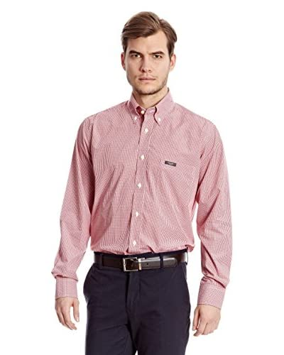 Sacoor Brothers Camicia Uomo Cupressus [Rosso]