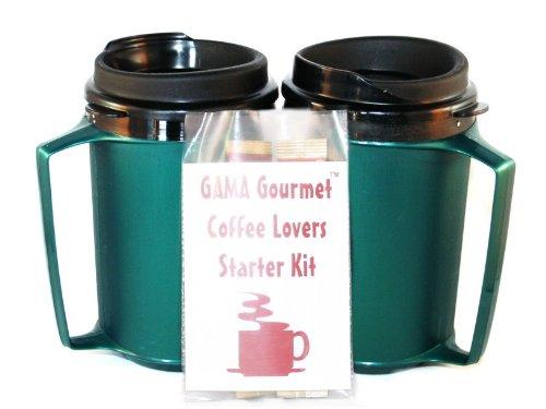 Gourmet 12 Oz Thermoserv Coffee 2 Green Mug Kit