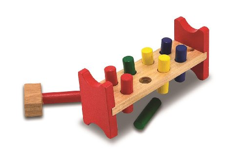 Wooden Pound A Peg Toy - (Child)