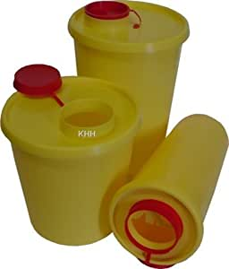 Kanülenabwurfbehälter Kanülenbox Abwurfbehälter Quickbox ver. Größen Kanülen(Größe : 1,5 Liter,Menge: 1x)