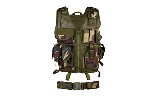 AMA Airsoft Cross-Draw Vest w/ Tac Belt - WOOD