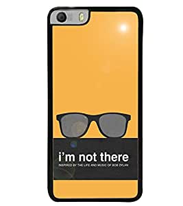 Fuson Premium I`M Not There Metal Printed with Hard Plastic Back Case Cover for Micromax Canvas Knight 2 E471