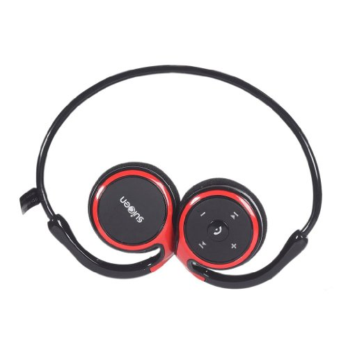 Itrendz(Tm) Red Bluetooth 4.0 Sports Headphones Stereo Headset Earphones With Microphone Noise Cancellation For Iphone 5 5S, Iphone 4 / Samsung Galaxy S5 S4 S3 / Ipad Air, Ipad 4/3/2 / Htc One M7 M8 / Google Nexus / Sony Xperia / Mobile Phones / Pda / Tab