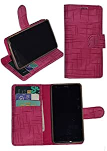 R&A Pu Leather Wallet Flip Case Cover With Card & ID Slots & Magnetic Closure For Microsoft Lumia 430
