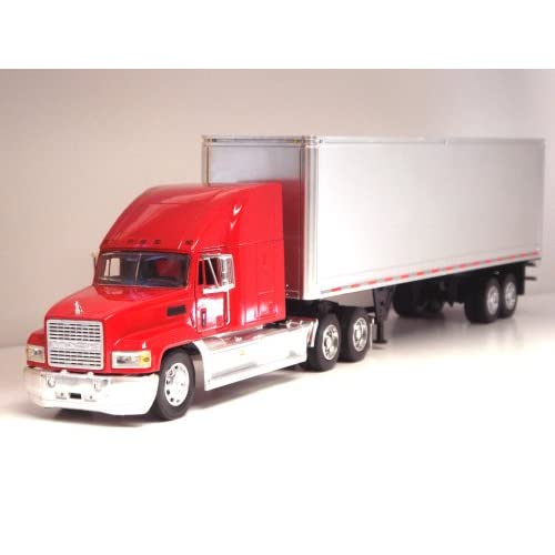 Toy Tractor Trailer Trucks : Mack ch tractor trailer g scale toy truck red
