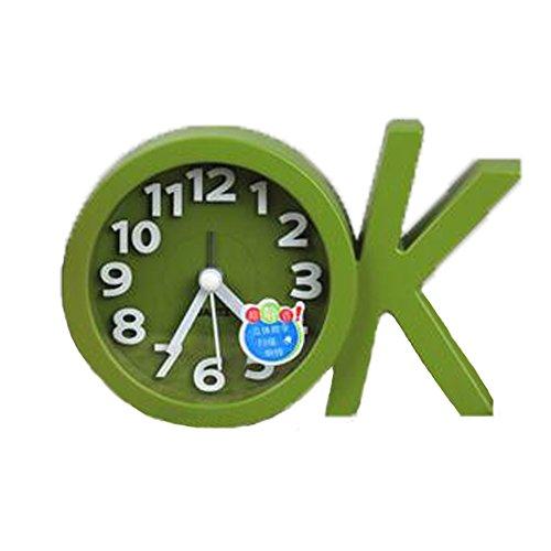 Mini Battery Operated chevet numérique Silent Alarm Clock OK-forme