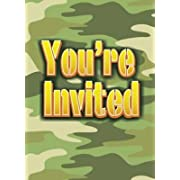 Camo Party Invitations - 8 Per Pack