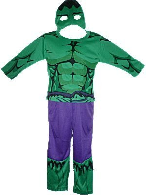 Kids Fancy Dress The Incredible Hulk Costume. Three Piece Set, Top, Trousers And Mask. Age 2-3 Years. Picture