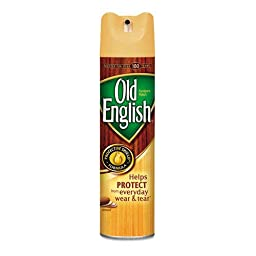 OLD ENGLISH Furniture Polish, 12.5 oz. Aerosol - 12 bottles.