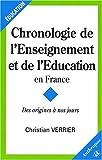 echange, troc C. Verrier - Chronologie de l'enseignement