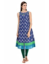 Aana Women's Cotton Round Neck Kurti - B00Y865ZLG