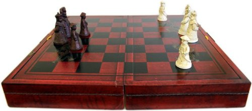 Terracotta Army Chess Set in Leather-Style Box