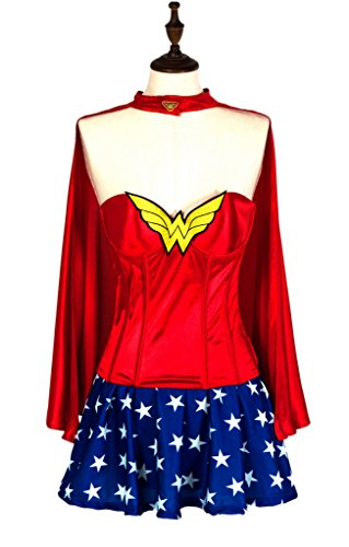 Alivila.Y Fashion Sexy Supergirl Wonder Woman Halloween Corset Costume Dress