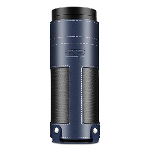 tnp-case-for-amazon-echo-dark-blue-premium-pu-leather-cover-sleeve-skins-carrying-storage-travel-bag