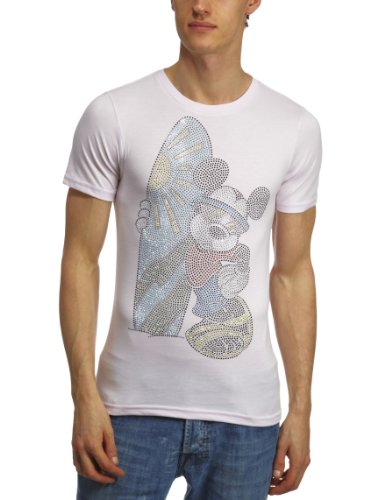 Disney Couture DCM1432 Printed Mens T-Shirt Pink Large