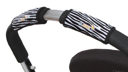 City Grips Stroller Grip Covers, Zebra, Single Bar