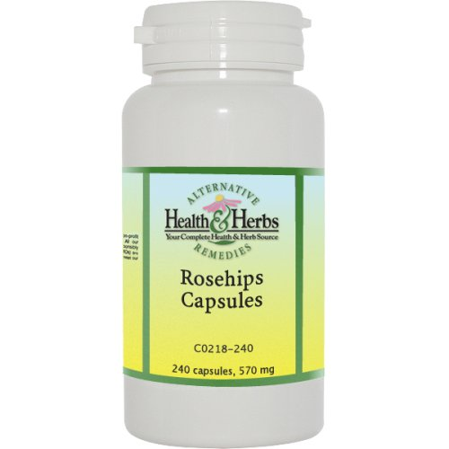 Alternative Health & Herbs Remedies Rosehips V-Capsules, 240-Count Bottle