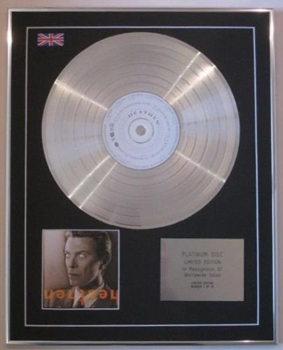 DAVID BOWIE-Ltd Edtn CD Platinum Disc-HEATHEN