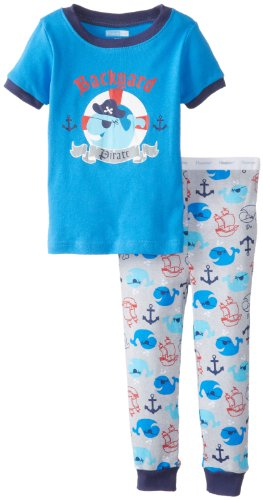 Vitamins Baby Baby-Boys Infant Pirate 2 Piece Pajama Set, Blue, 12 Months