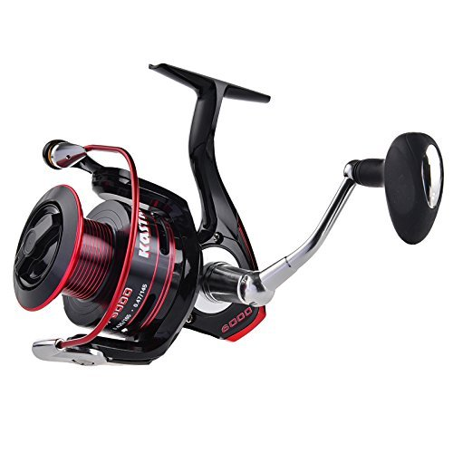 KastKing Sharky II Carbon Fiber Spinning Reel, Brass Gears, Stainless Steel Components, 41.5 Lbs Max Drag