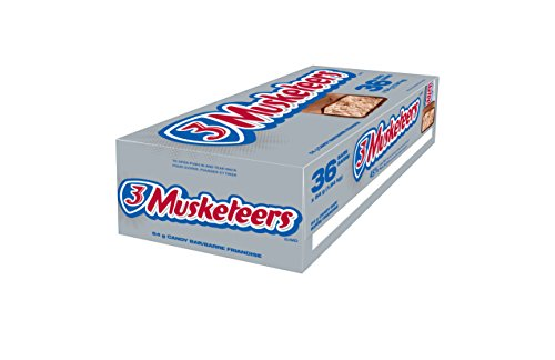 3 Musketeers Chocolate Bar 54g, 36-Count