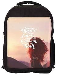 Snoogg Captain Of My Soul Backpack Rucksack School Travel Unisex Casual Canvas Bag Bookbag Satchel