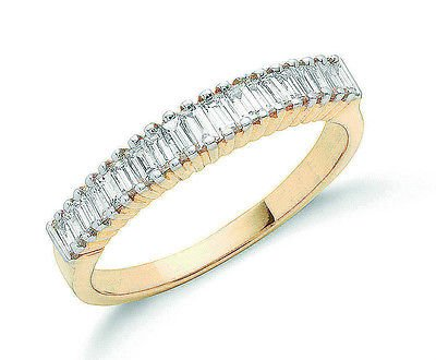 J R Jewellery 405771 18ct Yellow Gold Diamond Baguette Eternity Ring 0.50CTW
