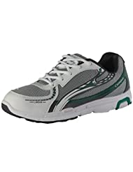 Men's Bio Plus 5 White Dark Grey & Green Synthetic Sport Shoes